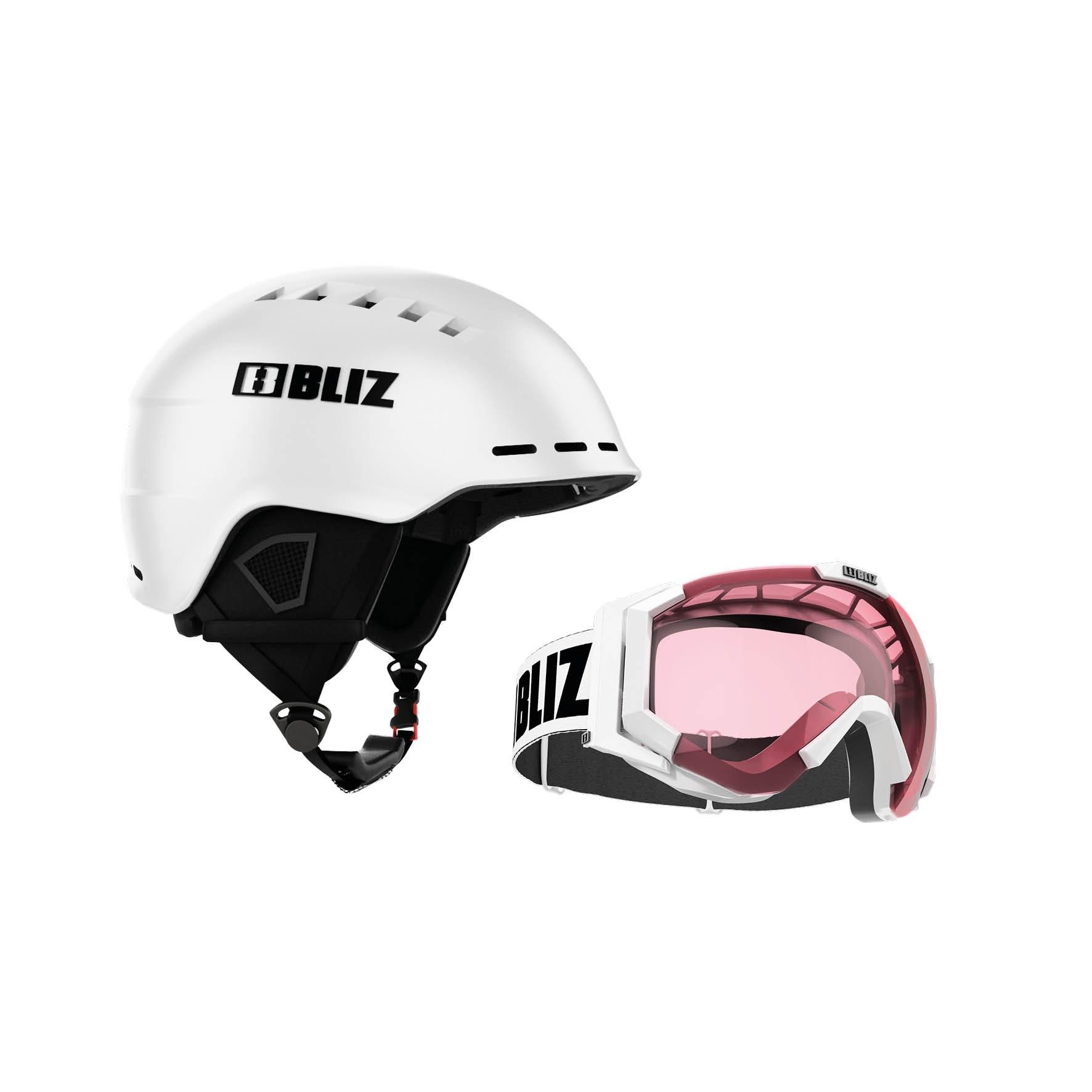 Snowboard Helmet -  bliz Set Head Cover + Carver