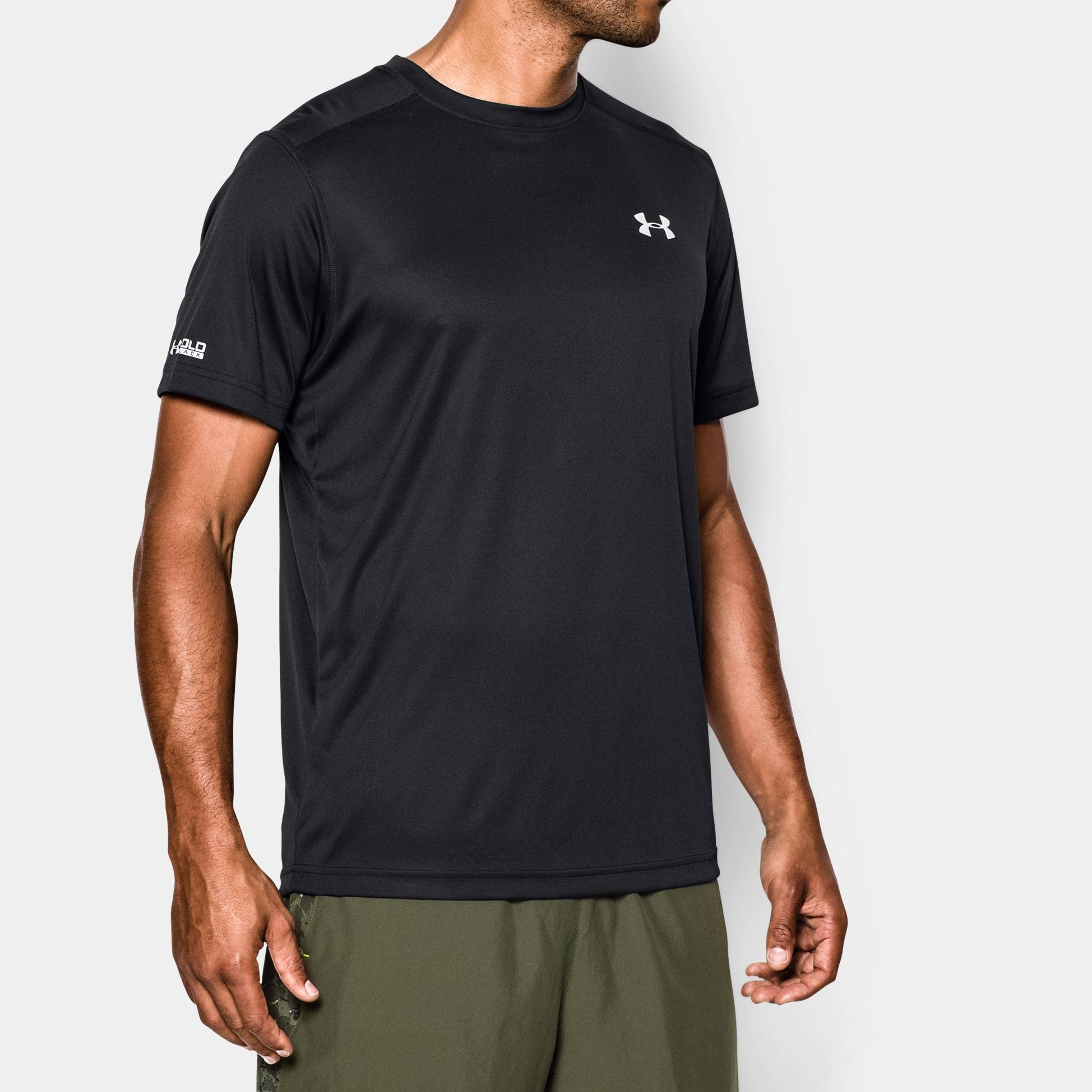 Clothing under armour cold black run t shirt fitness for Under armour i will shirt