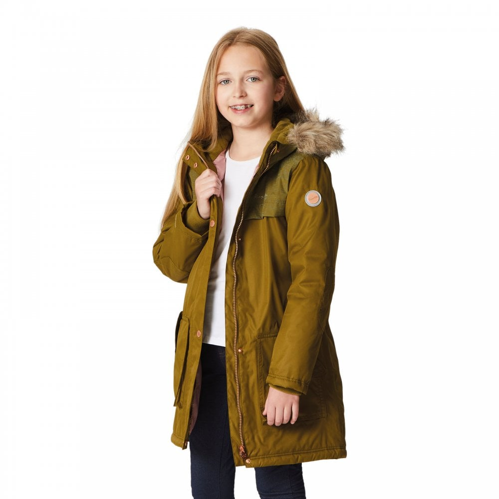 Regatta Kids Halimah Waterproof And Breathable Insulated Reflective Parka Jacket