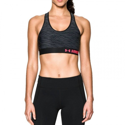 Clothing - Under Armour Armour Mid Printed Sports Bra 3505 | Fitness