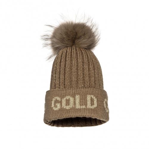Hats - Goldbergh HODD Beanie real raccoon fur   Snowwear