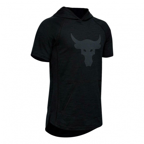 Clothing - Under Armour Project Rock Charged Cotton Short Sleeve Hoodie 1845 | Fitness