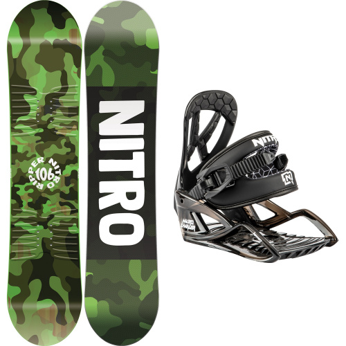 Snowboard Package - Nitro RIPPER KIDS + CHARGER MICRO | Snowboard