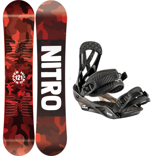 Snowboard Package - Nitro RIPPER KIDS + CHARGER MINI | Snowboard