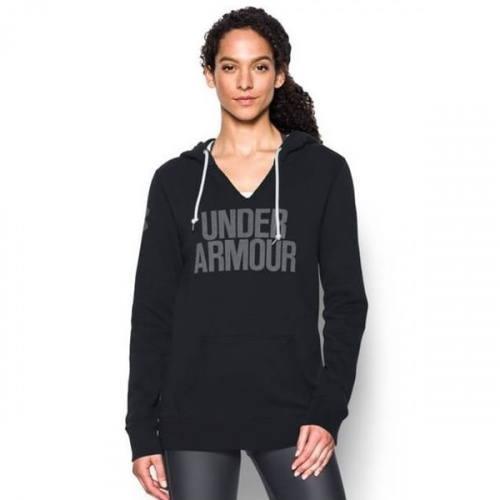 Clothing - Under Armour UA Favorite Fleece Word Mark Popover 3253 | Fitness