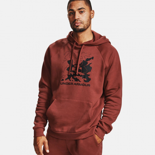 Clothing - Under Armour UA Rival Fleece Box Logo Hoodie 7095 | Fitness