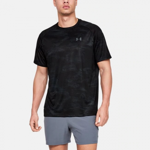 Clothing - Under Armour UA Tech Printed Short Sleeve 8189 | Fitness