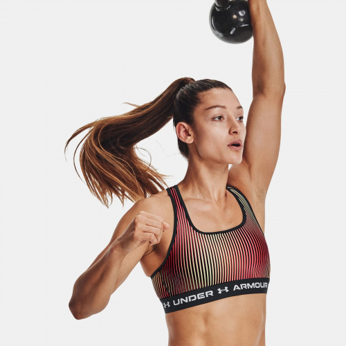 Clothing - Under Armour Armour Mid Crossback Printed Sports Bra | Fitness