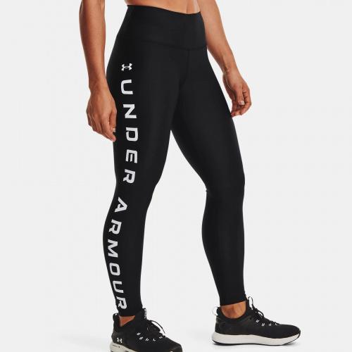 Clothing - Under Armour HG Armour No-Slip Waistband Branded Leggings 1046 | Fitness