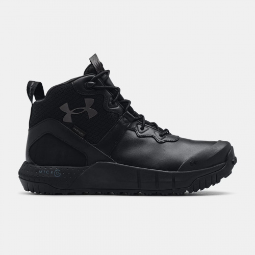 Shoes - Under Armour UA Micro G Valsetz Mid Leather WP Tactical Boots | Fitness