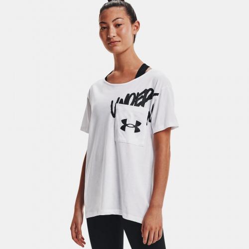 Clothing - Under Armour UA Oversized Wordmark Graphic T-Shirt | Fitness