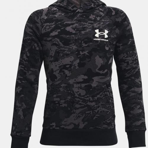Clothing - Under Armour UA Rival Fleece ABC Camo Hoodie | Fitness