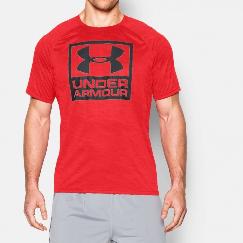 clothing under armour boxed logo printed t shirt fitness