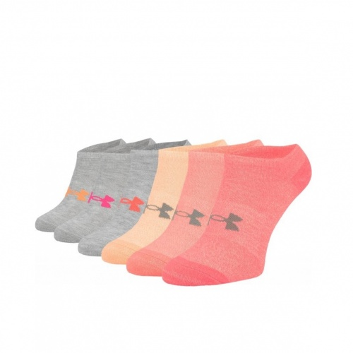 Accessories - Under Armour UA Solid No Show Socks 6-Pack 2701  | Fitness