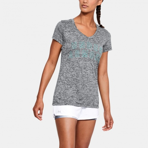 Clothing - Under Armour UA Tech Twist Graphic V-Neck T-Shirt 9898 | Fitness