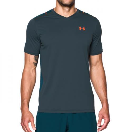 Clothing - Under Armour Threadborne Center Court Printed V-Neck 4438 | Tenis